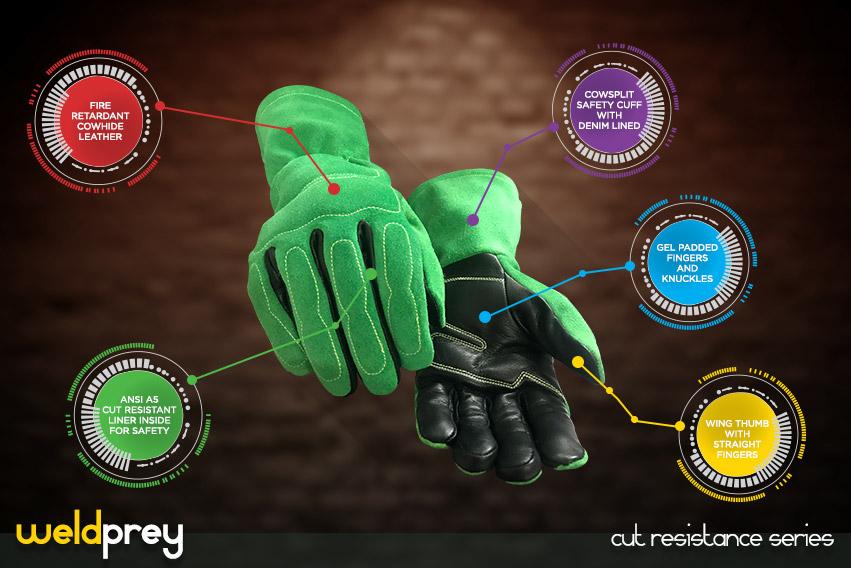 weld prey gloves - cut resistance gloves series by elite leather