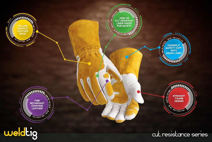 weld tig cut resistance glove series by elite leather