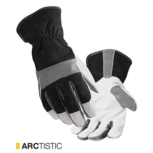 Arctistic cut-resistant leather gloves by elite leather