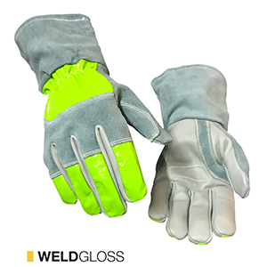 Weldgloss cut-resistant leather gloves by elite leather