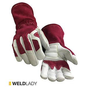 Weldlady cut-resistant leather gloves by elite leather