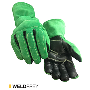 Weldprey cut-resistant leather gloves by elite leather
